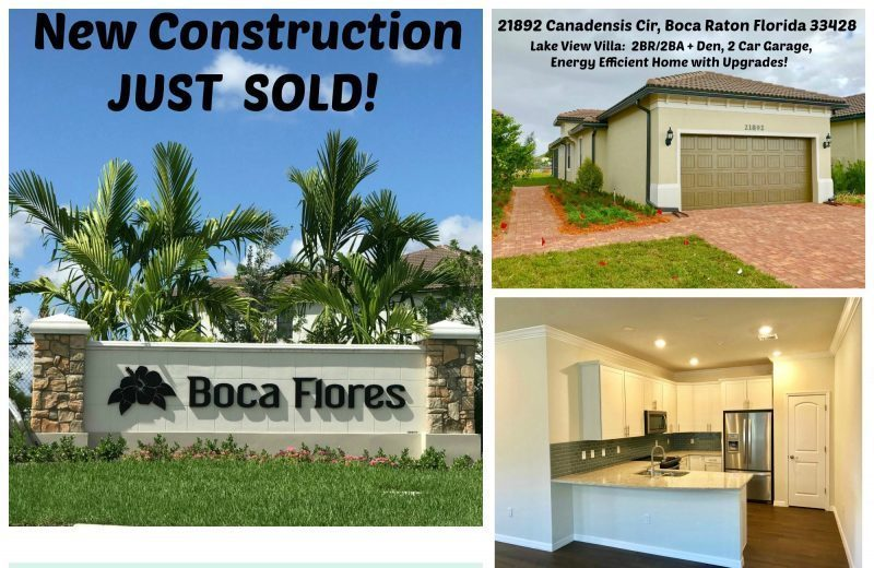 New Home SOLD! 21892 Canadensis Cir, Boca Raton FL 33428