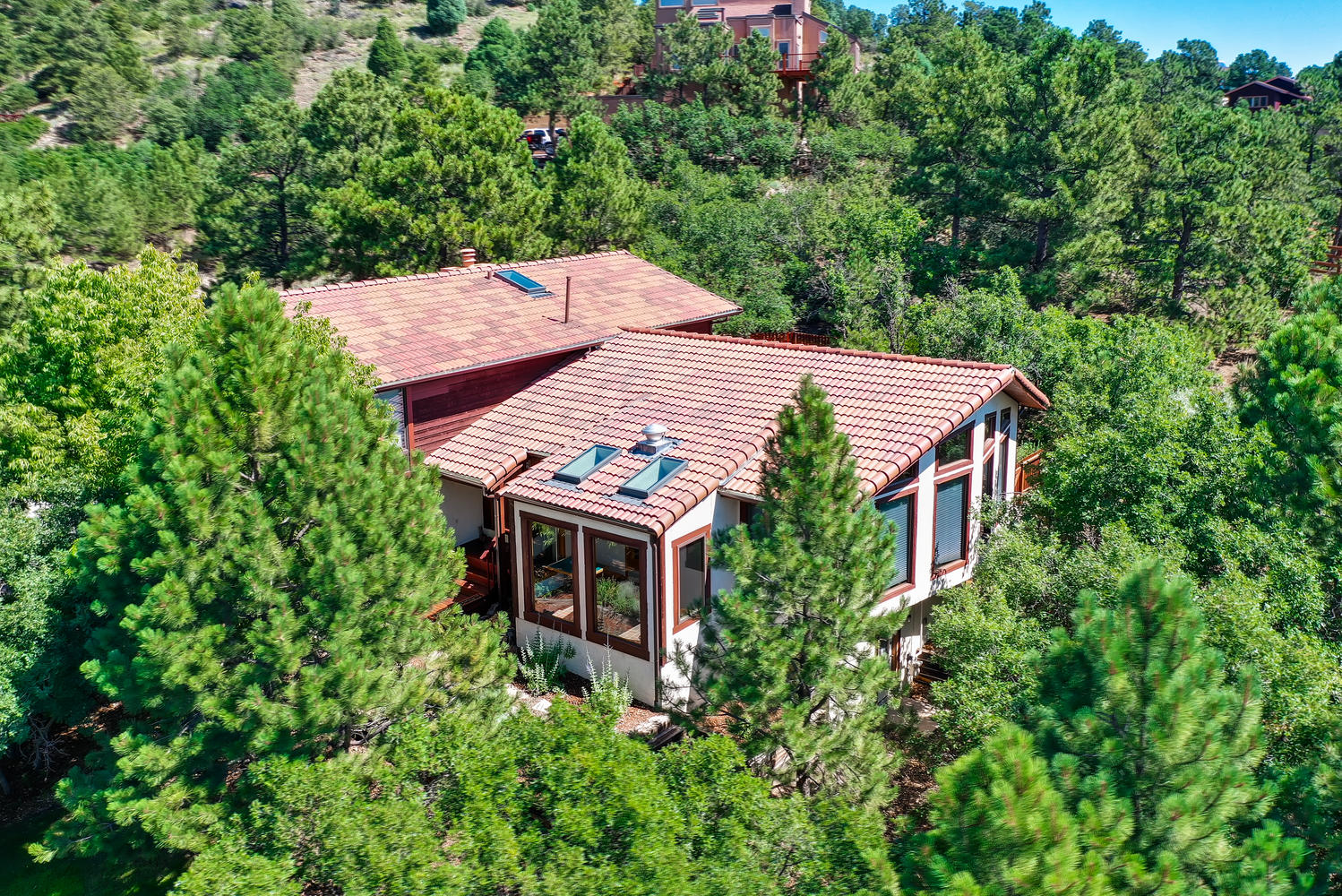Nestled into a wooded acre in Rockrimmon – 1046 Oak Hills Drive, 80919