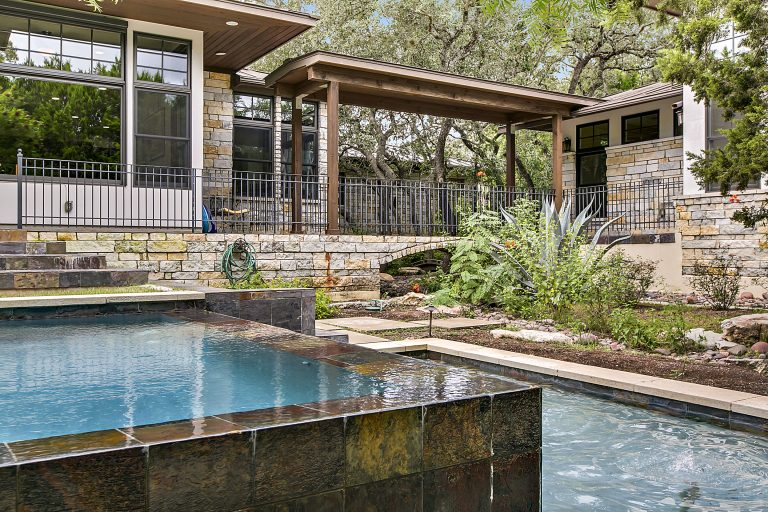 5009 Calabria Court Austin TX 78738 - Pool and Walkway