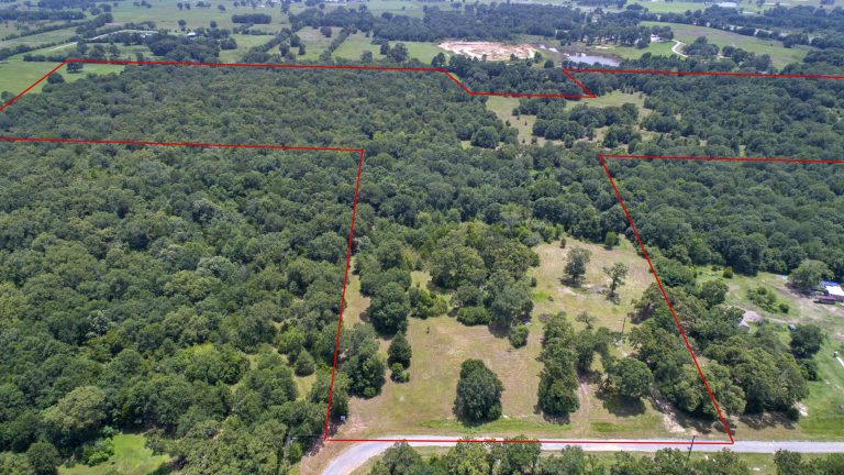 9511 Puddin Lane 63 acres aerial view