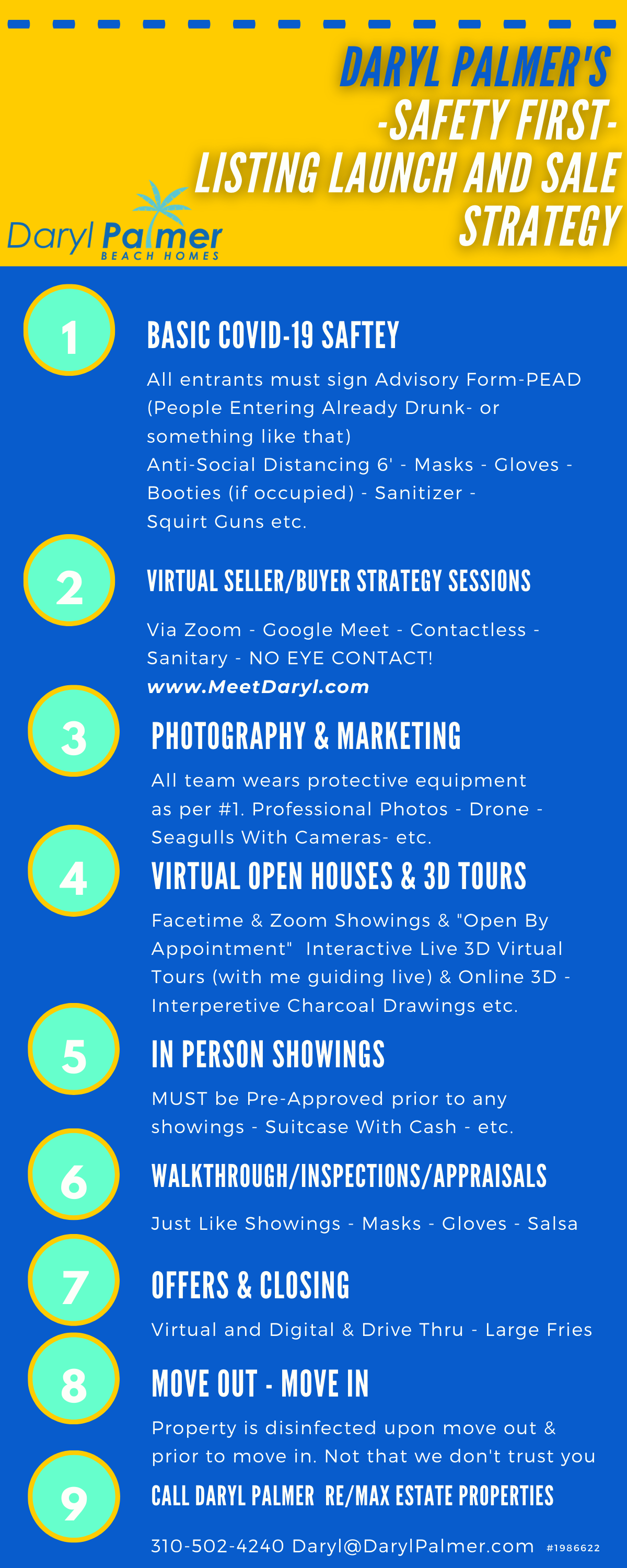 How Real Estate Agents Are Keeping You Safe Daryl Palmer Beach Homes Covid-19 Safety Protocols Infographic