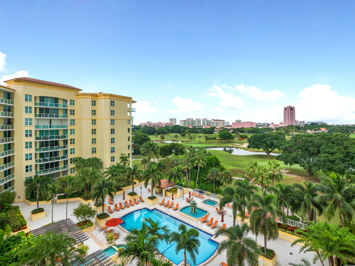 Townsend Place condominium B610, 550 SE Mizner Blvd unit B610, view from balcony