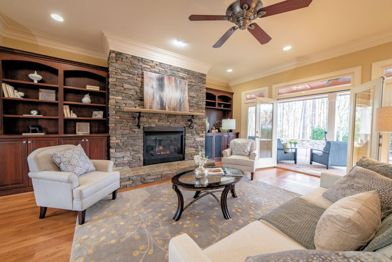 2409 Loring Ct Raleigh NC 27613 Living Room Open to Patio