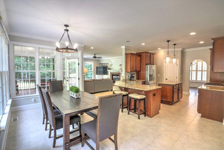 9025 Sundance Wake Forest NC 27587 Open Floorplan Living Kitchen