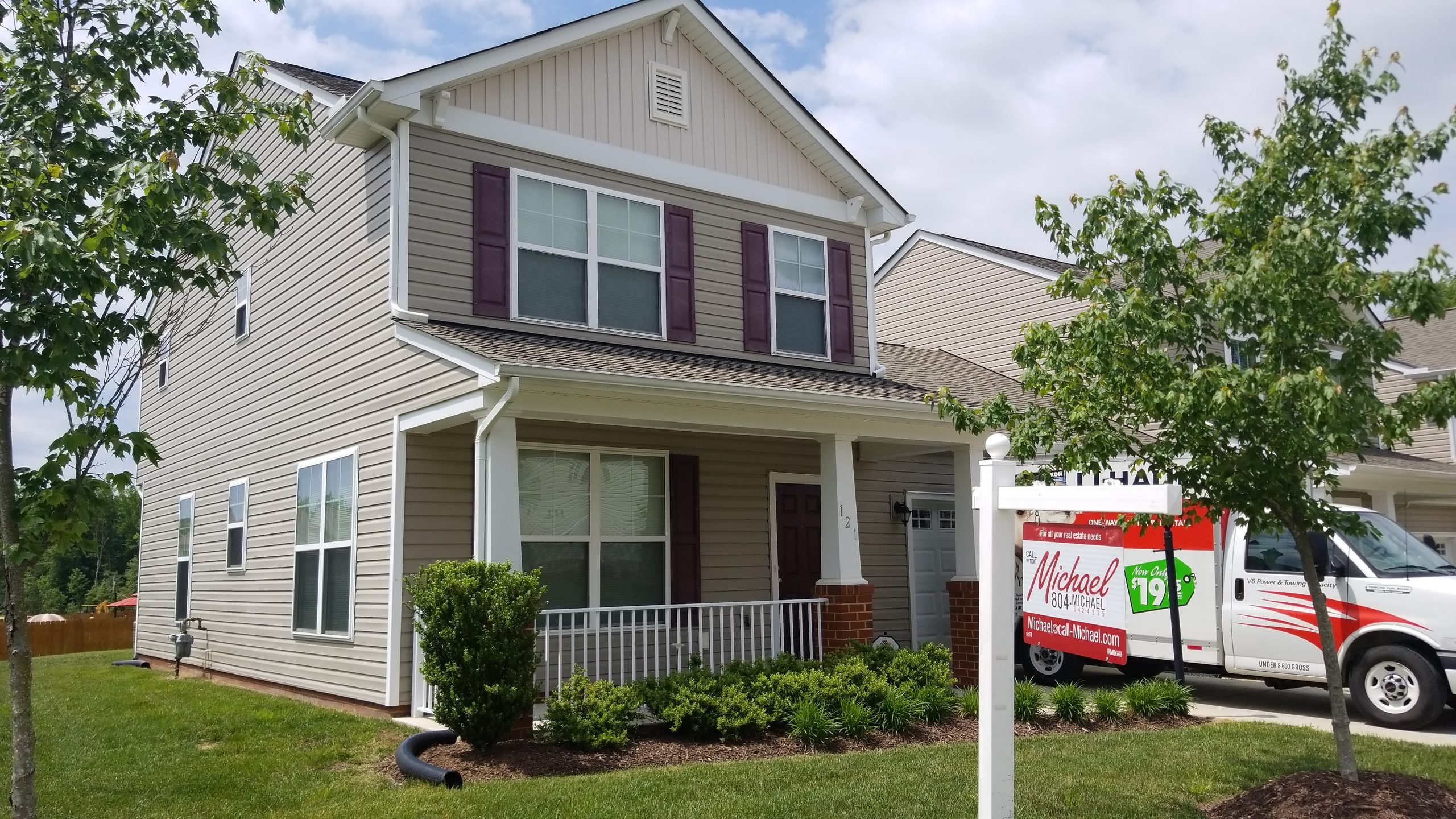 Townhouse near Airport at 121 New Market Village Pkwy, Henrico, VA 23231 For Sale