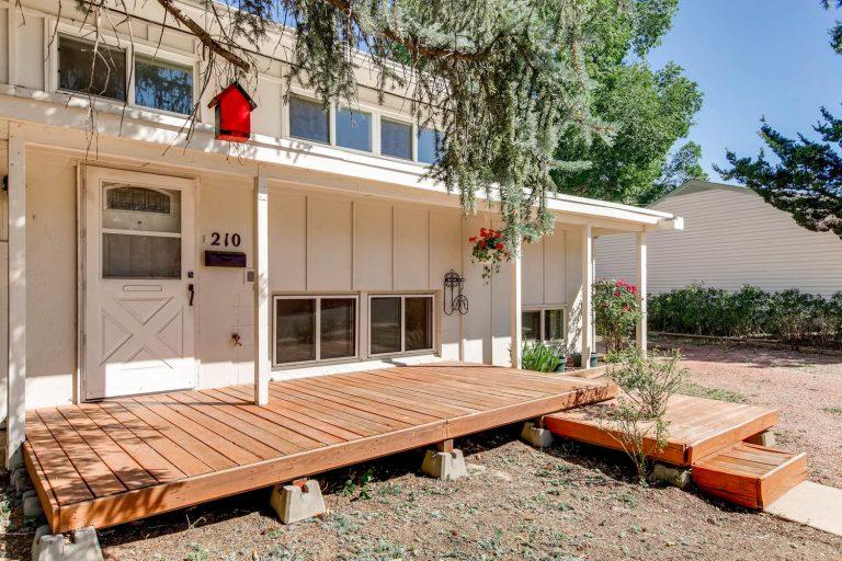 210 Elmwood Drive Colorado Springs Front Deck
