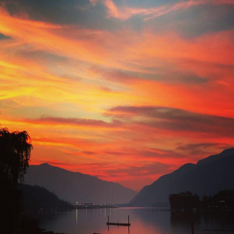 Adams Lake Sunset